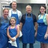 Downtown Board serving at Van Buren